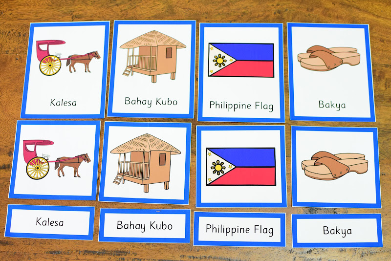 Country Study Philippines: 3 Part Cards