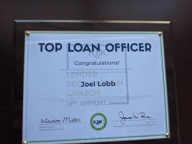 Joel Lobb Kentucky Housing Top Loan Officer