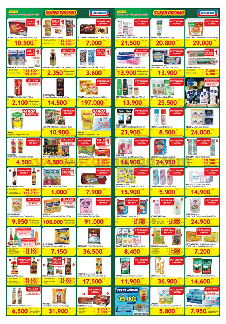 Katalog INDOGROSIR Super Promo Periode 16 - 30 September 2020 2