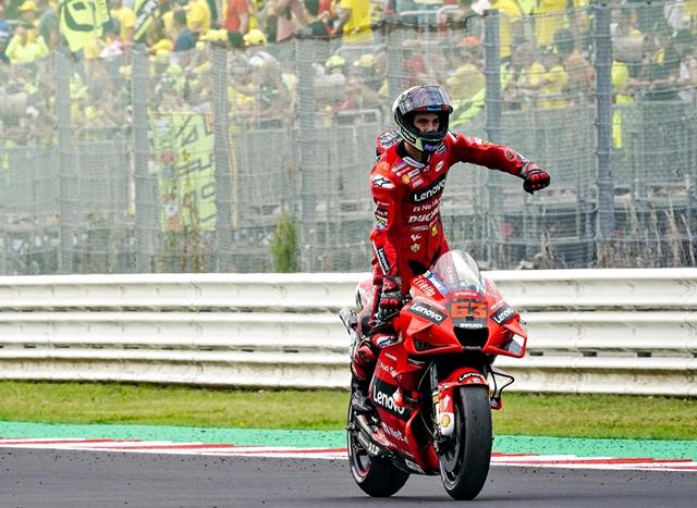 MOTOGP: Bagnaia é o grande nome do Gran Premio Octo di San Marino e della Riviera di Rimini