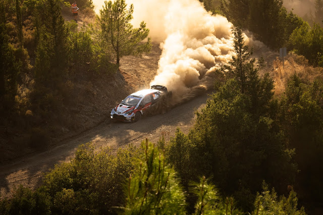 Toyota Yaris rally car drifting on Rally Turkey