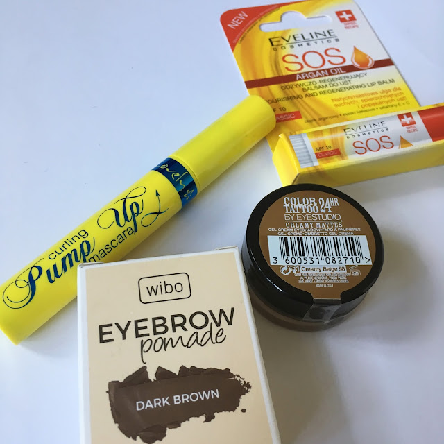 Promocja Rossmann 49 55 wibo eyebrow pomade Eveline SOS Lovely Pump Up Color Tattoo