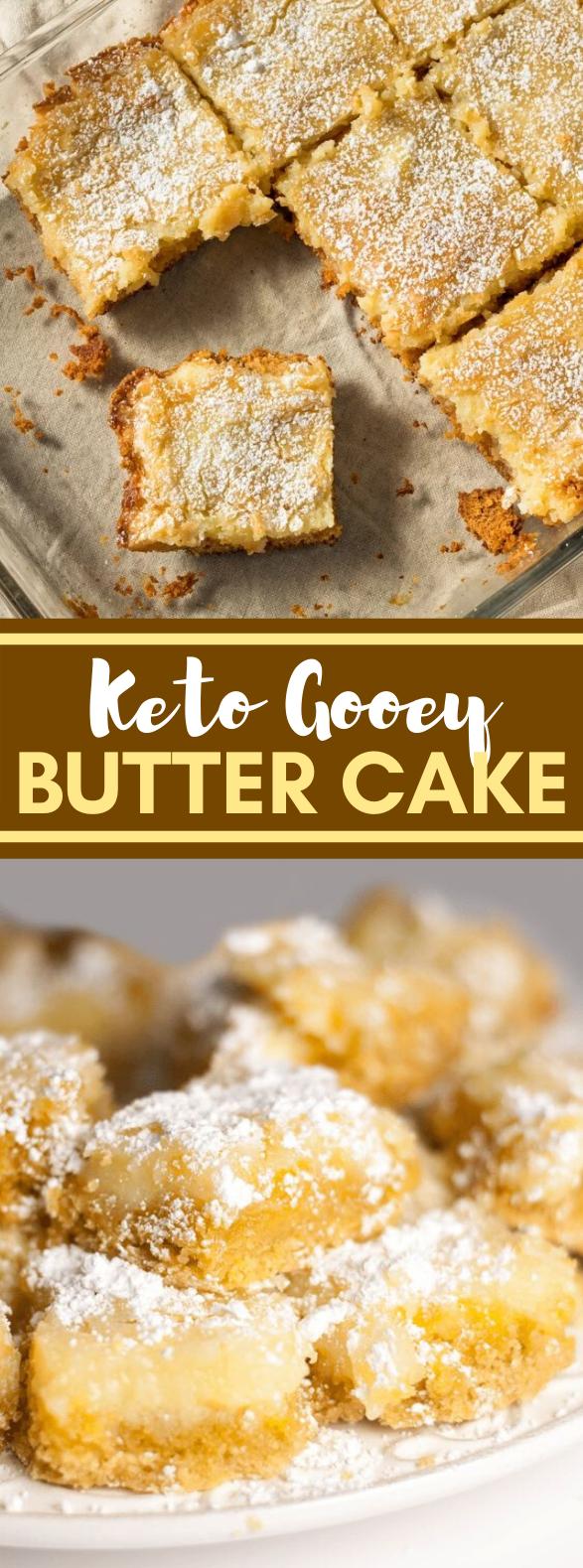Keto Gooey Butter Cake #diet #healthydessert