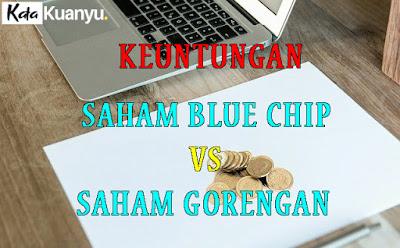 Perbandingan keuntungan membeli saham Blue chip vs saham gorengan
