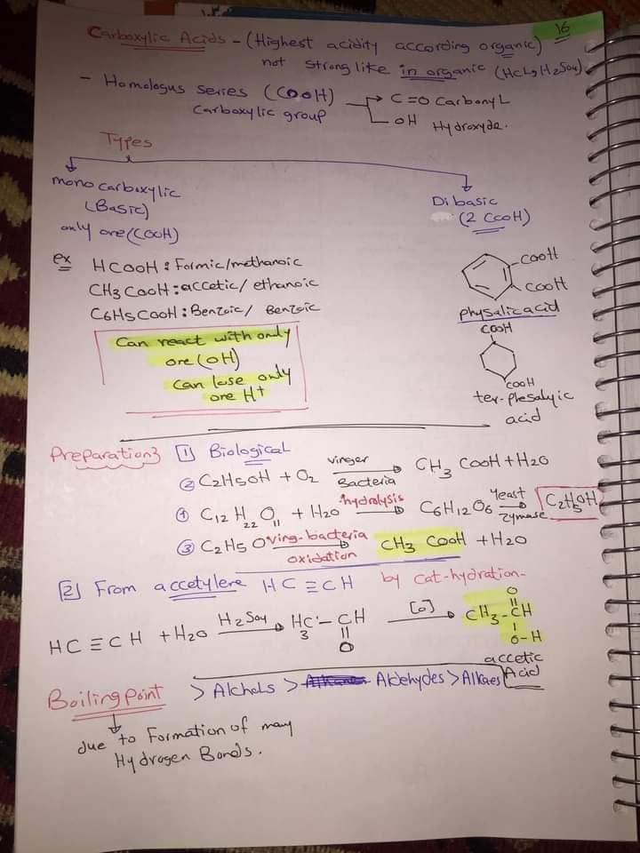 ملخص organic chemistry للثانوية العامة لغات 17