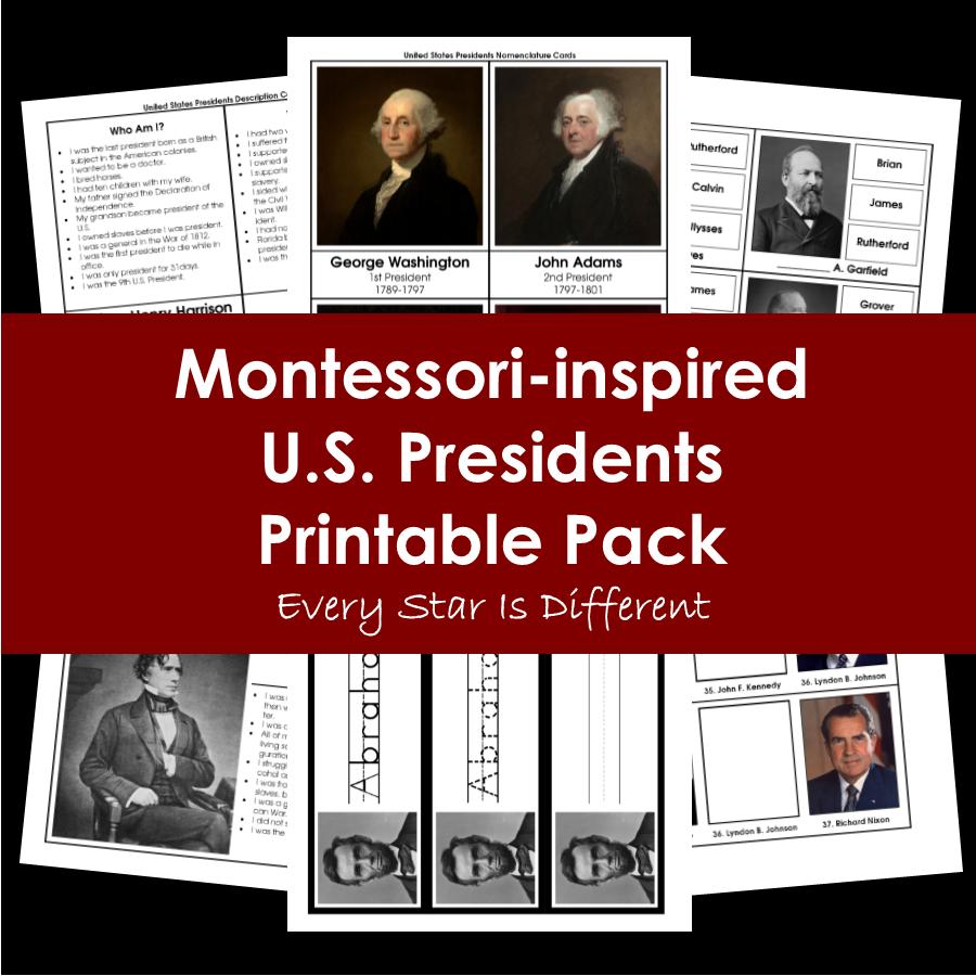 United States Presidents Printable Pack