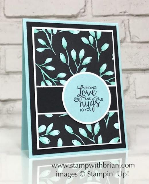 Carte Stampin' Up faite avec le papier design Jolies Fêtes et le jeu Ruban de courage
