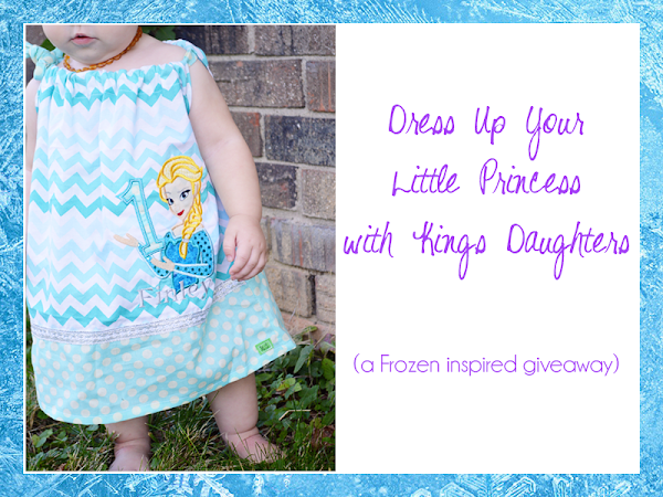 Dress Up Your Little Princess with Kings Daughters on Etsy {A Frozen Inspired Review & Giveaway}