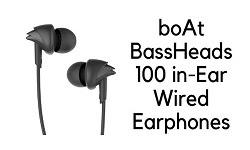 Best earphone boAt BassHeads 100
