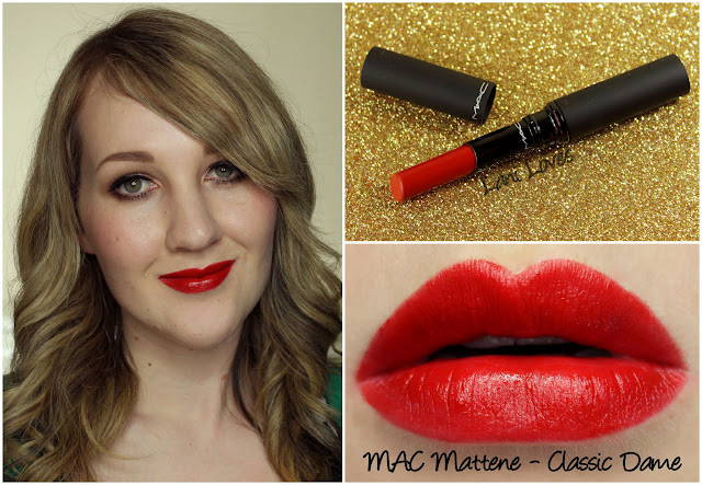 MAC Classic Dame Mattene lipstick swatch