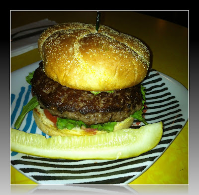 Hamburguesa en The Friendly Toast de Cambridge