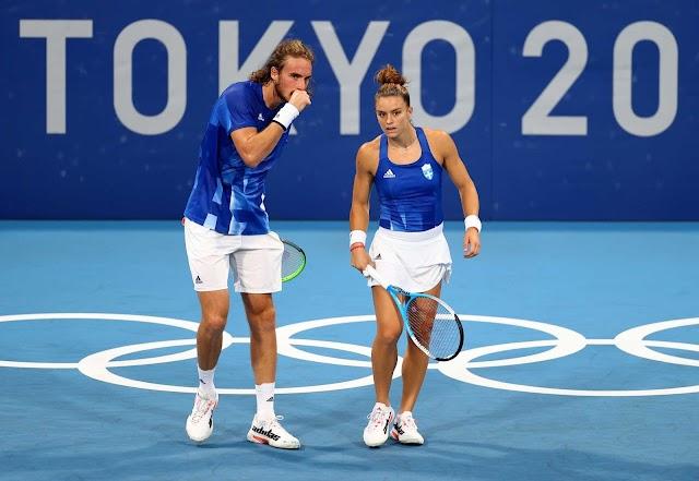 Τένις: Στα προημιτελικά του μικτού διπλού οι Τσιτσιπάς-Σάκκαρη