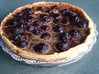 tarta de cerezas y gofio
