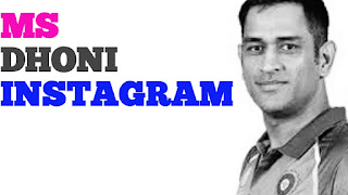 ms dhoni instagram
