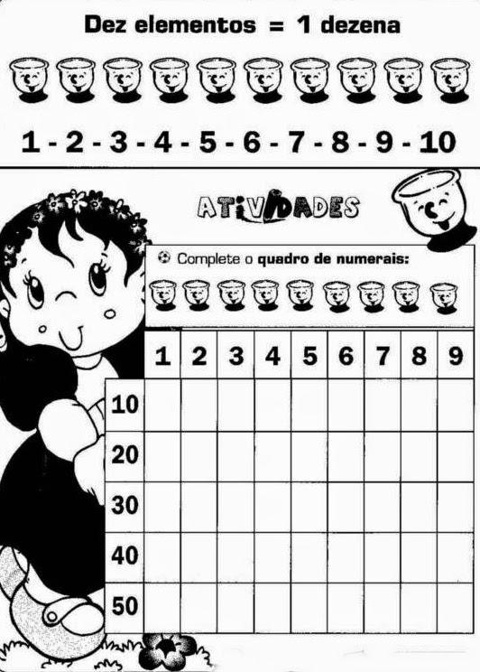Pedagogia & Cia...: Atividades de Matemática do 1º ano
