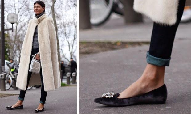1d310eea6 ... com um salto que você pode usar a barra dobrada e estar totalmente  chique e elegante. No caso o sllipper que bem poderia ser uma sapatilha é  poderoso, ...