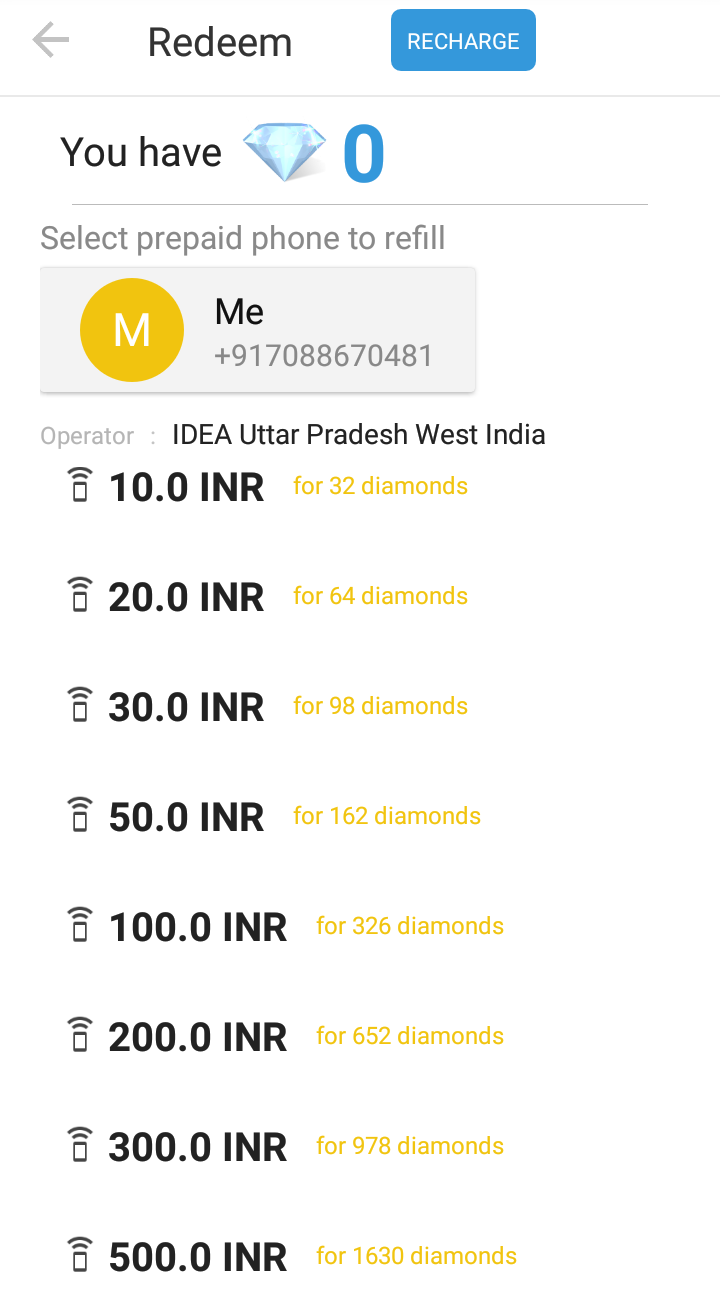Imo Diamond Recharge