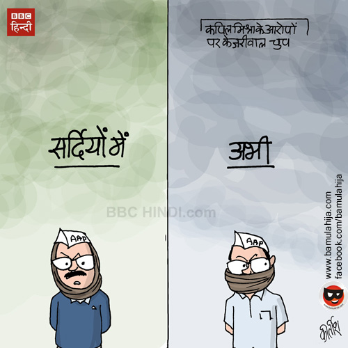 arvind kejriwal cartoon, AAP party cartoon, cartoons on politics, indian political cartoon, cartoonist kirtish bhatt