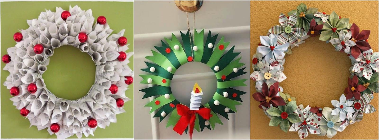 Tutorial aprende c mo hacer bonitas coronas navide as de papel mimundomanual - Como hacer coronas navidenas ...