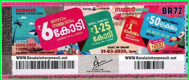 Buy Kerala Lottery Online - Buy Summer Bumper 2020 Tickets - Buy Weekly Tickets