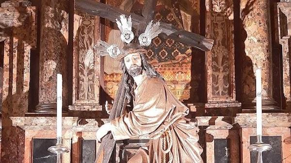 El Cristo de la Corona no se moverá del altar del Jubileo durante el Vía Crucis de las Cofradías