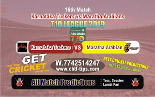 Who will win Today T10 League 2019, 16th Match MAR vs KAT, 100% Sure Prediction