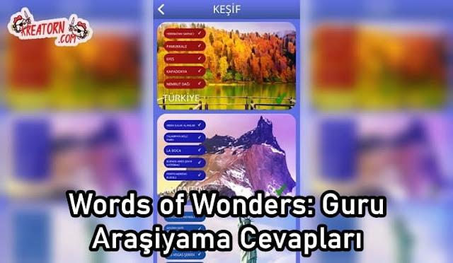 Words of Wonders: Guru Araşiyama Cevapları