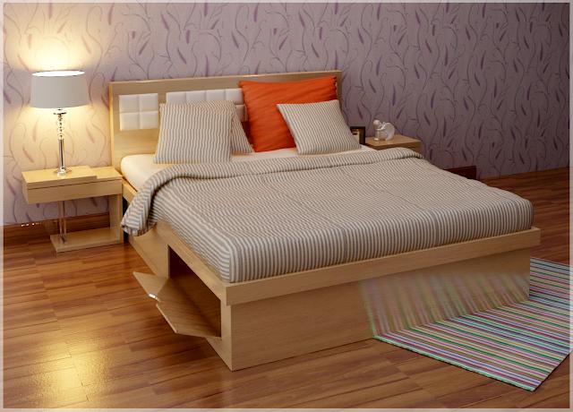 Các ngăn kéo giúp tiết kiệm diện tích phòng ngủ.