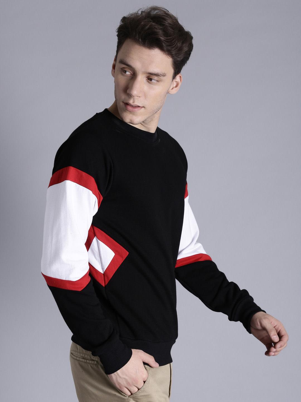 Black & White Colourblocked Sweatshirt By Kook N Keech