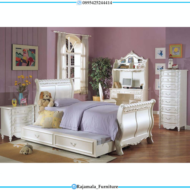 Set Tempat Tidur Anak Mewah Ukiran Luxury Princes Style Room RM-0089