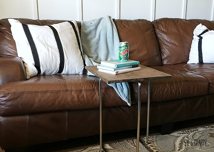 How to make over an under the couch side table