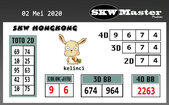 Prediksi HK Malam Ini 02 Mei 2020 - SKW Master HK