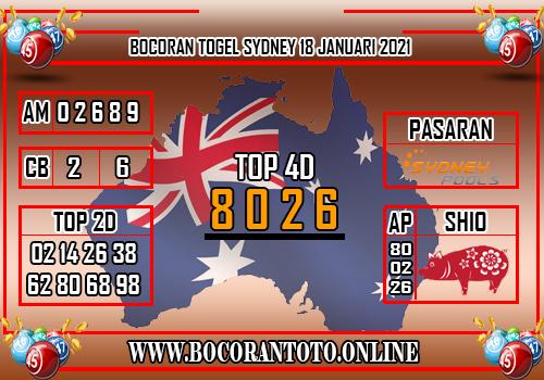 Bocoran Togel SDY 18 Januari 2021