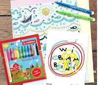 Logo Concorso '' #coloraconSTABILO e con Ippocampo Edizioni'' : vinci gratis astuccio Trio Jumbo e esclusivo quaderno