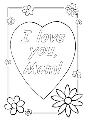 heart coloring pages for mom
