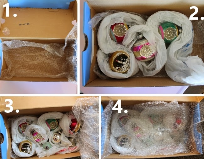 how to pack vintage glass christmas ornaments