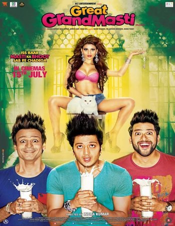 Poster Of Great Grand Masti 2016 Hindi 350MB DVDRip 480p ESubs Watch Online Free Download Worldfree4u