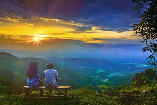sunset di bukit lintang sewu