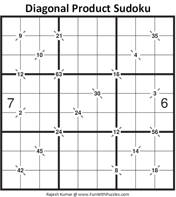 Diagonal Product Sudoku Puzzle (Fun With Sudoku #320)