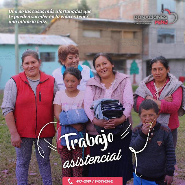 trabajo asistencial - Donaciones Perú - labor social - causas sociales - voluntariado
