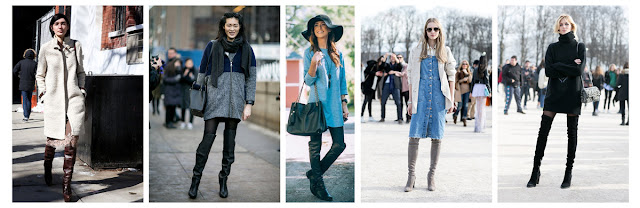 Как носить ботфорты уличная мода