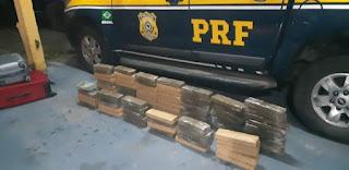 Casal é preso pela PRF na BR-101 com quase 80 kg de maconha em veículo