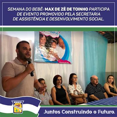 VEREADOR PARTICIPA DA SEMANA DO BEBÊ NO MUNICÍPIO DE RIBEIRÓPOLIS.