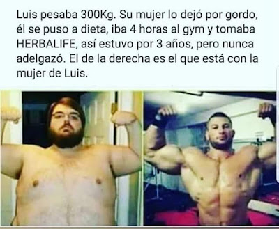 Luis pesaba 300 kilos , Herbalife , gordo, gym, gimnasio, adelgazar