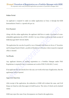 registration procedure of portfolio manager