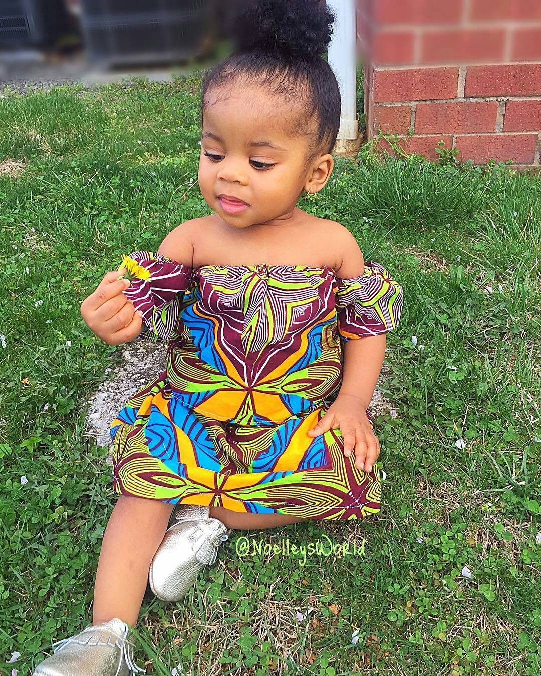 Top 25 cutest african ankara female baby dresses to wear in 2018 ankara styles