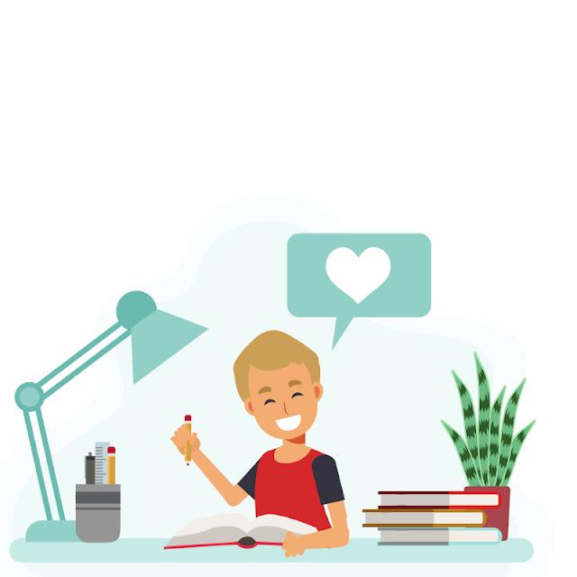 Gambar Kartun Anak Belajar di Rumah (1)
