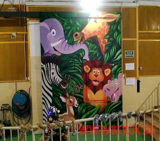 Graffitis infantiles de animales de Selva