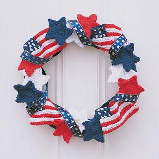 Crochet Fourth of July Wreath