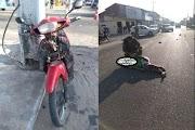 Colisão entre moto e carro deixa motociclista ferido na Avenida João Silva Filho em Parnaíba, litoral do Piauí